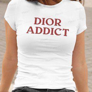 Custom made DIOR Addict meme tshirt womens